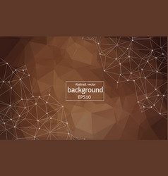 abstract brown geometric polygonal background vector image