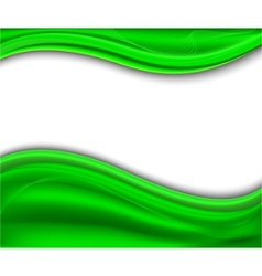 abstract green background - wave vector image
