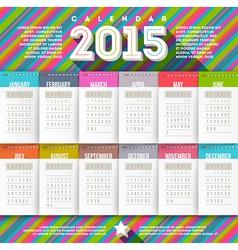 Abstract multicolored calendar of 2015 vector