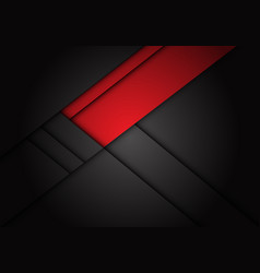 Abstract red label overlap on dark grey metallic vector