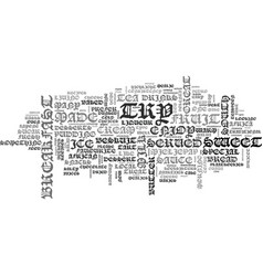 After lunch desserts and snacks text word cloud vector