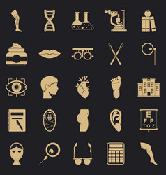 Assay icons set simple style vector