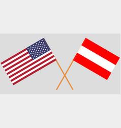Austria and usa flags vector