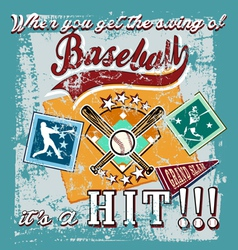 baseball swing vector image