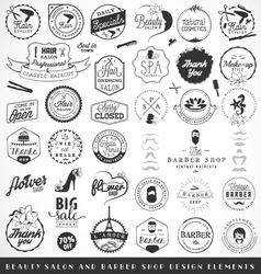 Beauty Salon and Barber Shop Badges vector