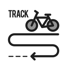 Bicycle track vector