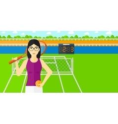 Big tennis player vector