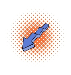 Broken down arrow icon comics style vector