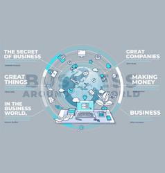 Business around world - promo vector