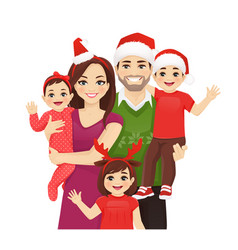 christmas family portrait vector image