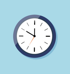 clock for wall on flat style icon watch blue vector image
