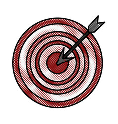 Color blurred stripe arrow hitting a target vector