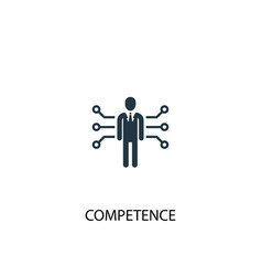 Competence icon simple element vector