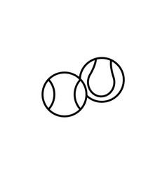 Creative tennis ball icon black on white vector