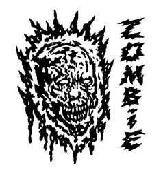 creepy demon head vector image