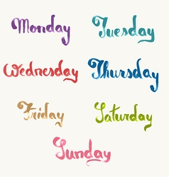 Days week vector