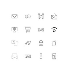 devices simple linear icons set outlined icons vector image