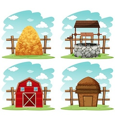 Different things in the farm vector image