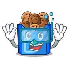 Diving falafel in fried on teflon cartoon vector