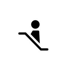 Escalator lift icon vector
