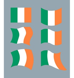 Flag of Ireland Set flag of Irish State Developing vector image
