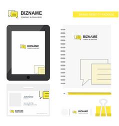 folder business logo tab app diary pvc employee vector image