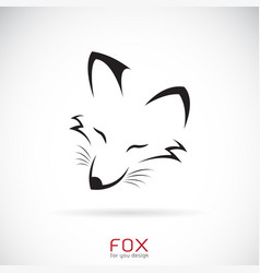 Fox face design on a white background wild vector