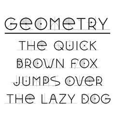 Geometric Retro font vector image
