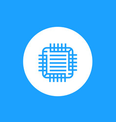 gpu graphic chipset icon linear style vector image