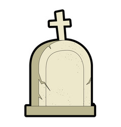 grave of dead icon vector image