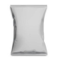 Gray realistic polyethylene bag vector