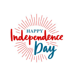 happy united states independence day vector image