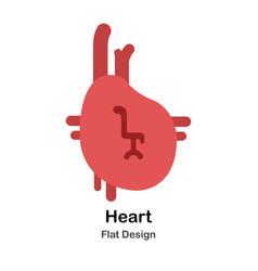 Heart flat vector