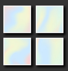 holographic background set in 80s - 90s style vector image