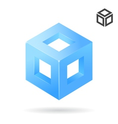 Isometric cube vector