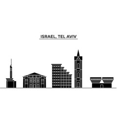 istael tel aviv architecture city skyline vector image