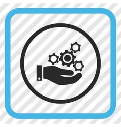 Mechanics Service Icon In a Frame vector image