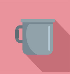 metal cup icon flat style vector image