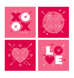 modern minimalist geometric valentines day vector image