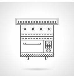 Multi oven flat line design icon vector image