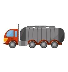 oil tanker truck transport vector image