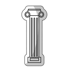 pilaster column decoration outline vector image