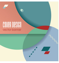 retro design templates for brochure covers vector image