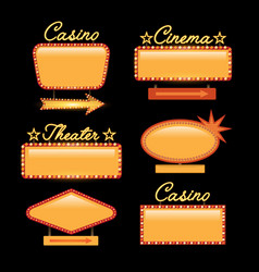 Retro gold vintage motel neon sign vector