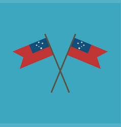 Samoa flag icon in flat design vector