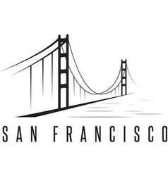 san francisco golden gate bridge design template vector image
