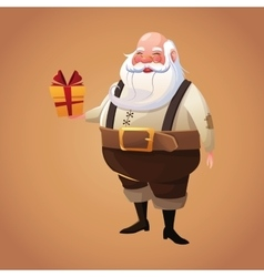 Santa cartoon of Christmas season vector