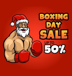 santa claus on idle pose ready for boxing day vector image