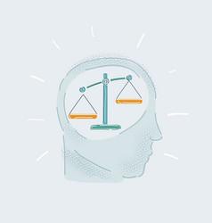 Scale balance in human head vector