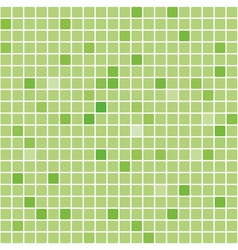 Seamless digital green square texture vector image